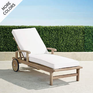 cassara chaise lounge with cushions in weathered finish - Chaise Metal