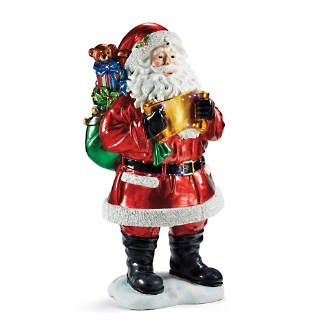 fiber optic santa with gift bag - Outdoor Toy Soldier Christmas Decorations