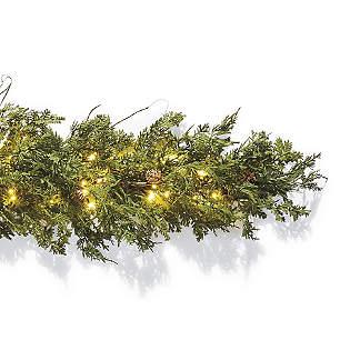 Christmas Lighted Garlands.Holiday Garland Pre Lit Garland Pine Garland Frontgate