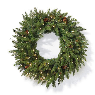 majestic 36 cordless wreath - Artificial Christmas Wreaths Decorated
