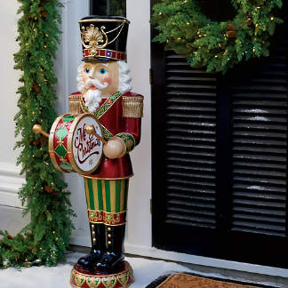 58 led nutcracker with moving hands - Large Christmas Decorations