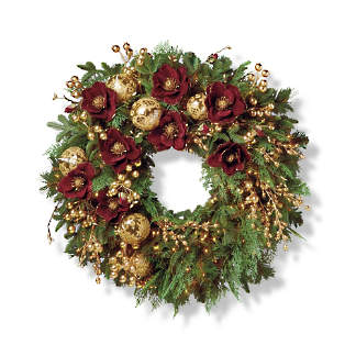 grand regency cordless 32 indoor wreath - Rural King Christmas Decorations