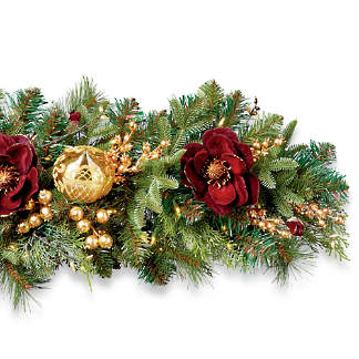 grand regency cordless 6 indoor garland
