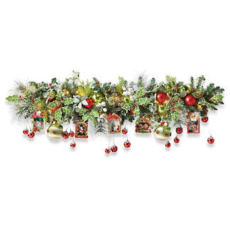 mark roberts 5 lighted festive mantel garland
