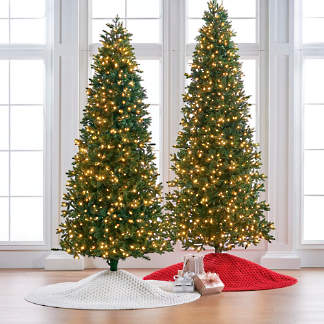 deluxe noble fir quick light 7 12 slim profile tree