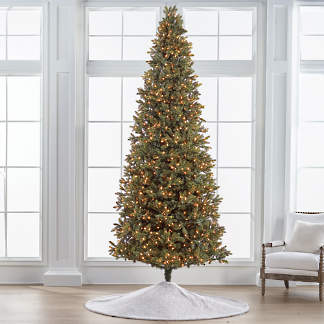 Deluxe Noble Fir Quick Light 10' Slim Profile Tree