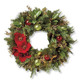 Holiday Wreaths Artificial Christmas Wreath Pre Lit Christmas