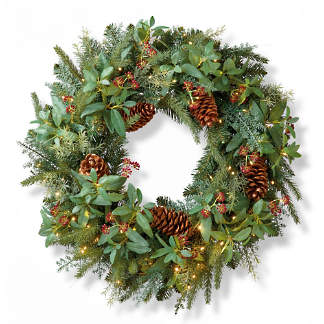 Christmas Reef.Holiday Wreaths Artificial Christmas Wreath Pre Lit
