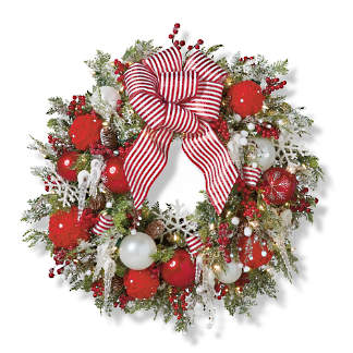 Image Christmas Wreath.Holiday Wreaths Artificial Christmas Wreath Pre Lit