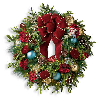 Prelit Christmas Wreath.Holiday Wreaths Artificial Christmas Wreath Pre Lit Christmas