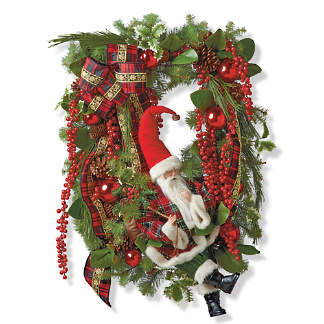 Image Christmas Wreath.Wreaths Garlands Christmas Greenery Frontgate