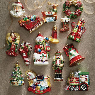 Christmas Tree Ornament Sets.Ornament Sets Two Three Six Ornament Sets