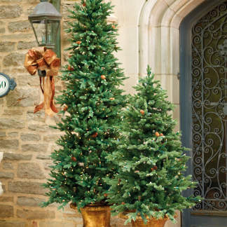 3 ft hyde park pathway trees set of two - Outdoor Christmas Displays