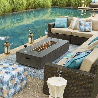 Outdoor Fire Pit Coffee Table.Fire Pits And Fire Tables Frontgate