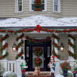 christmas cheer greenery collection - Discount Outdoor Christmas Decorations
