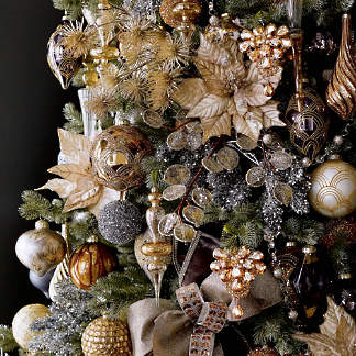 gilded elegance ornament collection - Christmas Tree Decorating Ensemble Kits