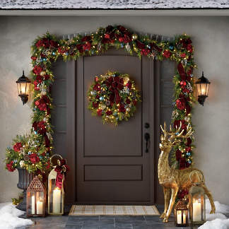 Outside Christmas Decorations.Outdoor Christmas Decor And Lighted Displays Frontgate