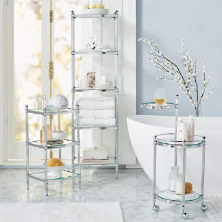 Shower Stools Sink Consoles Bath Storage Frontgate