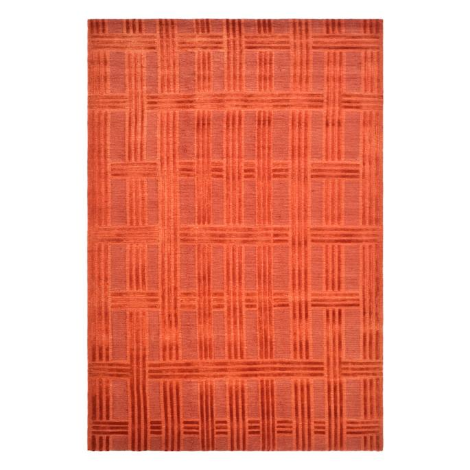 Deco Plaid Hand Knotted Area Rug