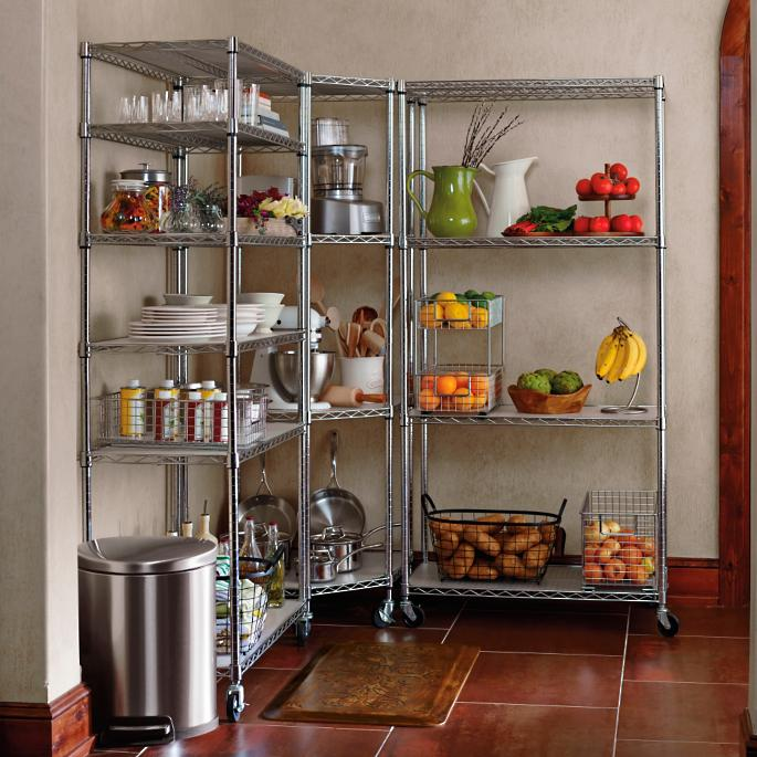 Corner Pantry Shelves: Chrome Pantry Shelving