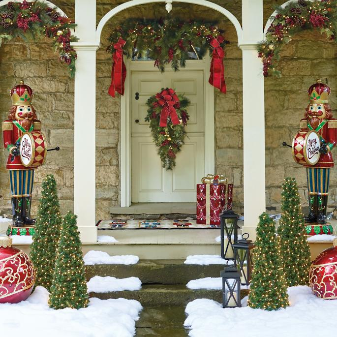 Hadley Place Outdoor Garland Swag - Hadley Place Outdoor Greenery Frontgate