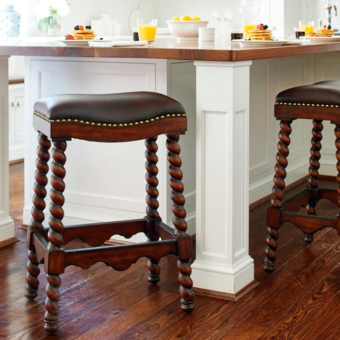 Barley Twist Backless Bar And Counter Stools Frontgate