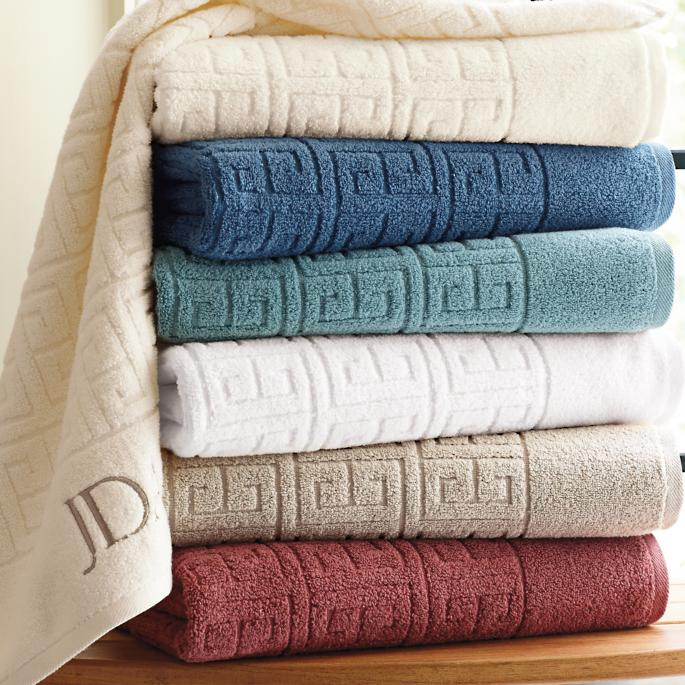 Rhodes Greek Key Bath Towels Frontgate