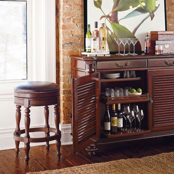 Surprising St John Swivel Backless Bar And Counter Stools Frontgate Machost Co Dining Chair Design Ideas Machostcouk