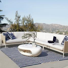 Stupendous Amalfi Lounge Chair And Ottoman By Porta Forma Frontgate Ncnpc Chair Design For Home Ncnpcorg