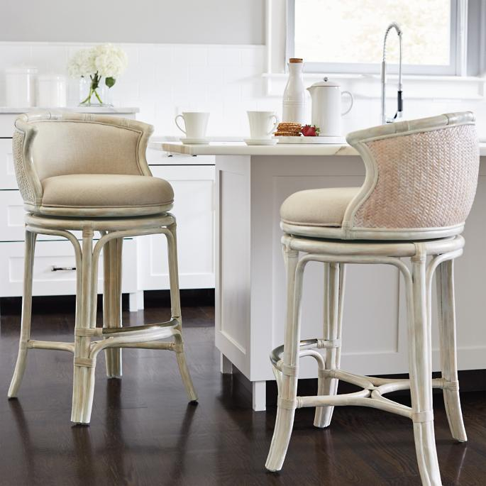more photos d02b1 80952 Bali Woven Swivel Bar and Counter Stools | Frontgate