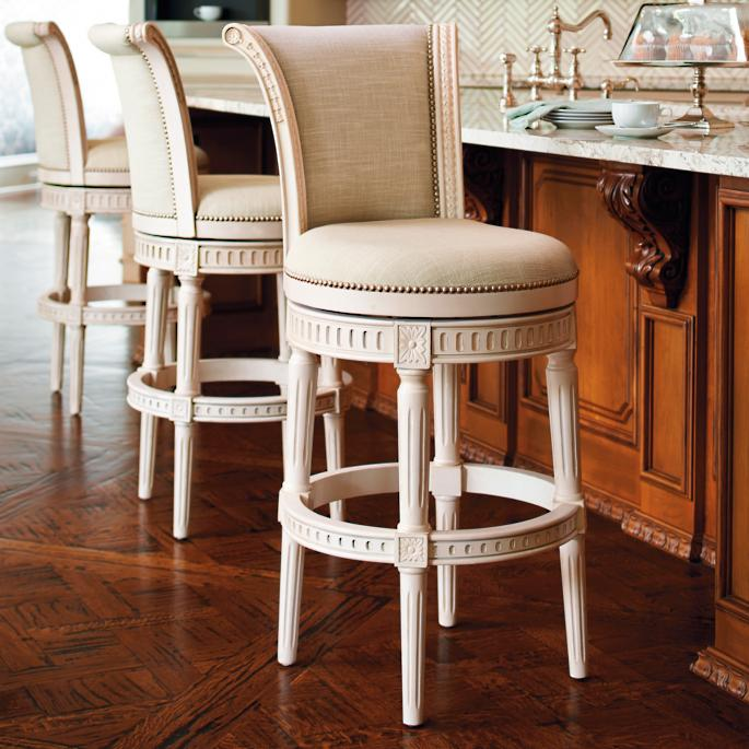 Awesome Manchester Swivel Bar And Counter Stools In Vintage White Pdpeps Interior Chair Design Pdpepsorg
