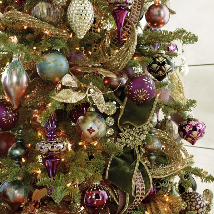 Christmas Tree Ornament Sets.Violet Gray Ornament Collection Frontgate