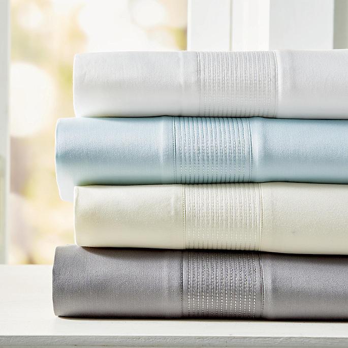 Resort Egyptian Cotton Channeled Sheet Set Frontgate