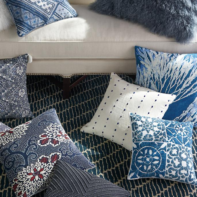 Brilliant Indigo Batik Pillow Collection Onthecornerstone Fun Painted Chair Ideas Images Onthecornerstoneorg
