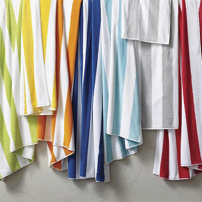 Resort Cabana Stripe Beach Towel by Frontgate