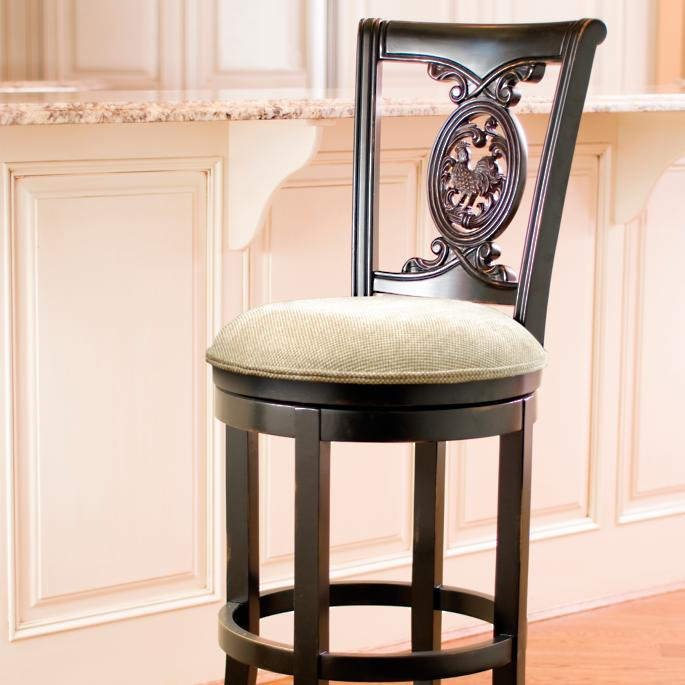 Cool Carved Rooster Swivel Bar And Counter Stools Frontgate Caraccident5 Cool Chair Designs And Ideas Caraccident5Info
