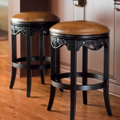 Carved Grapes Backless Bar And Counter Stools Frontgate