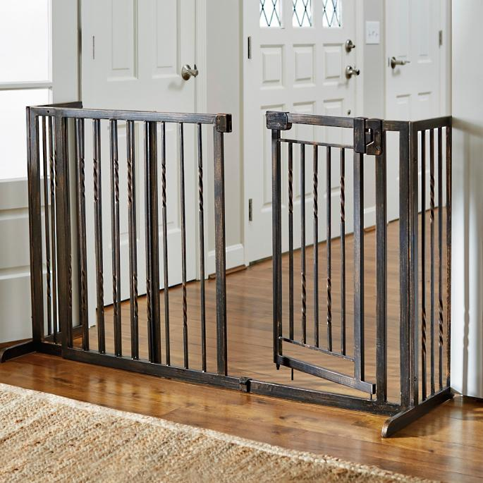 34 H Freestanding Pet Barrier With Gate Frontgate