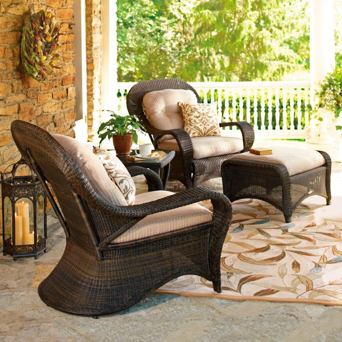 & Westport Chair and Ottoman | Frontgate