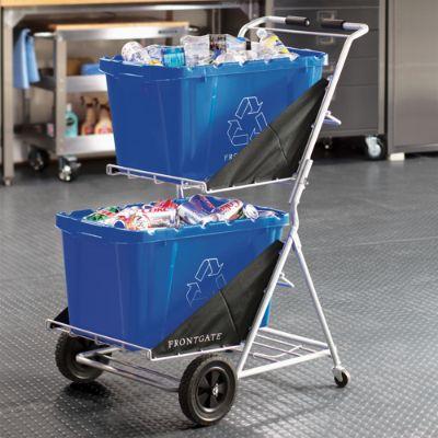 Two Bin Folding Recycling Cart Frontgate