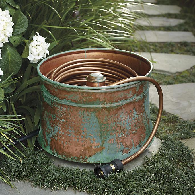 Merveilleux Patina Copper Hose Pot