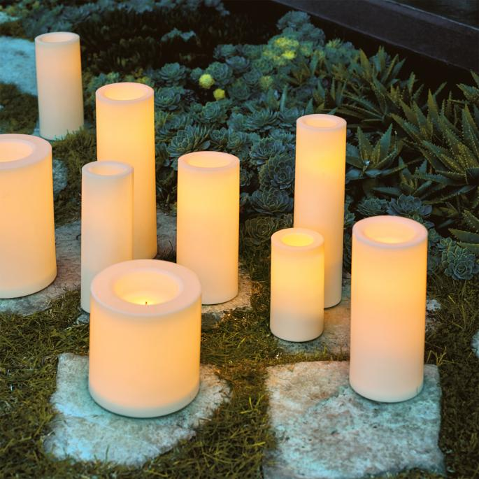 Battery Operated Flameless Outdoor Candles Frontgate