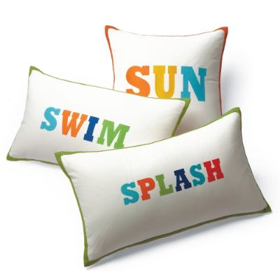 Pool Themed Embroidered Throw Pillows Frontgate