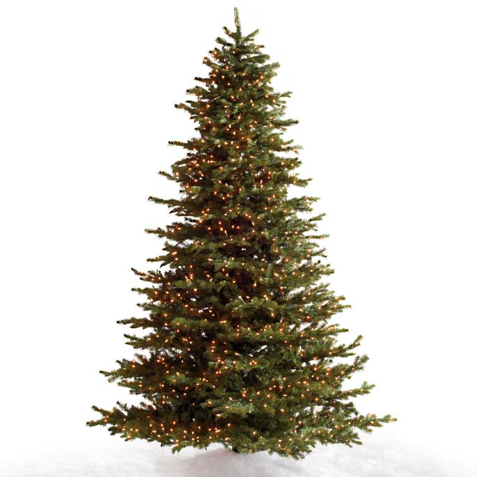 Noble Fir Artificial Christmas Tree with FlipTree Stand - Noble Fir Christmas Tree Frontgate