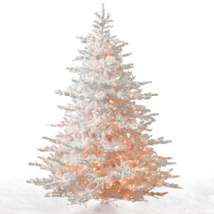White Cascades Artificial Christmas Tree - White Cascades Fir Christmas Tree Frontgate