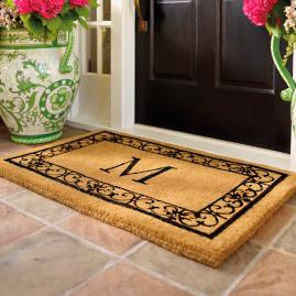 Superieur Wayland Monogrammed Coco Mat