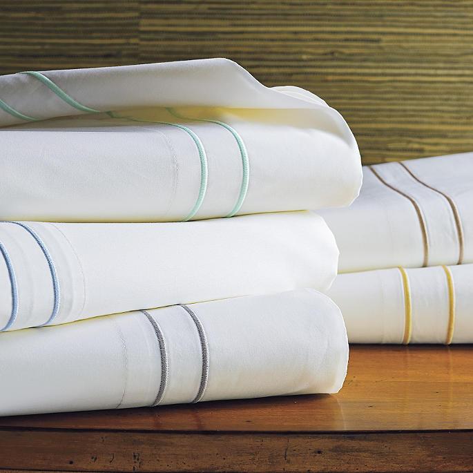 Resort Embroidered Stripe Sheet Set Frontgate
