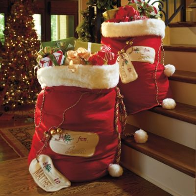 Personalized Santa Bags Frontgate