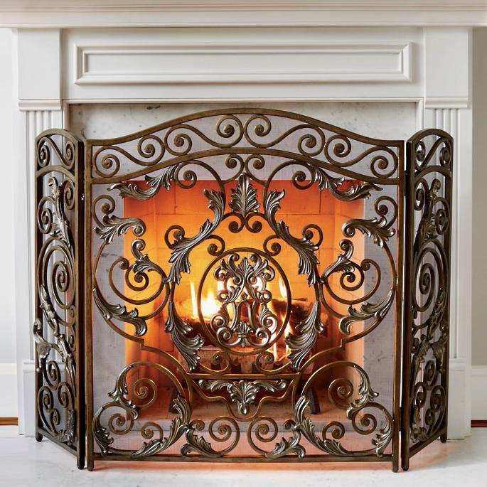 Avignon Fireplace Screens | Frontgate