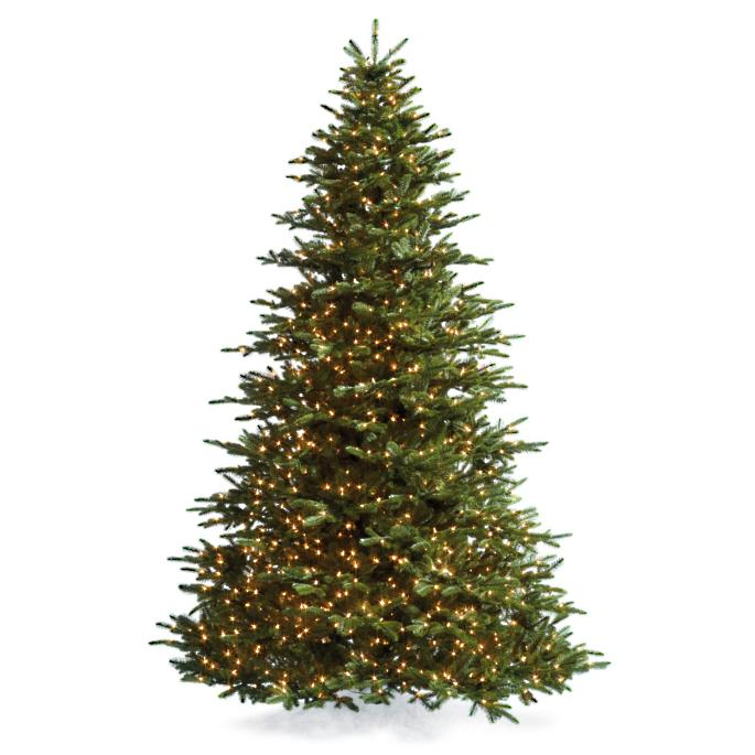 Noble Fir Christmas Tree with FlipTree Stand & Storage Bag - Noble Fir Artificial Christmas Tree Frontgate